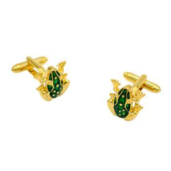 Gold Soild Frog Cufflinks