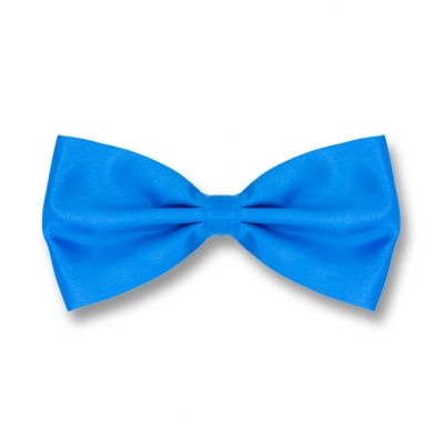 Blue Dress Polyester Solid Skinny Bow Tie