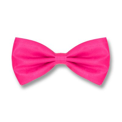 Deep Pink Polyester Solid Skinny Bow Tie