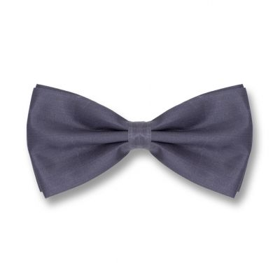 Gray Wolf Polyester Solid Skinny Bow Tie