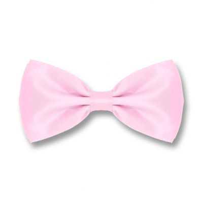 Pig Pink Polyester Solid Skinny Bow Tie