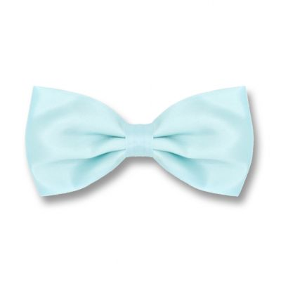 Robin Egg Blue Polyester Solid Skinny Bow Tie