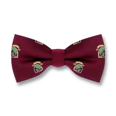 Firebrick, Blanched Almond, Green Thumb and Black Polyester Novelty Butterfly Bow Tie