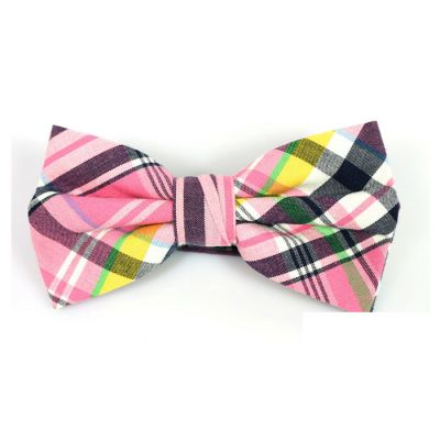 Mint green, Rose Gold, Tiger Orange, Black and Yellow Cotton Plaid Butterfly Bow Tie