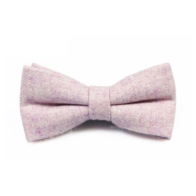 Rose Gold Cotton Solid Butterfly Bow Tie