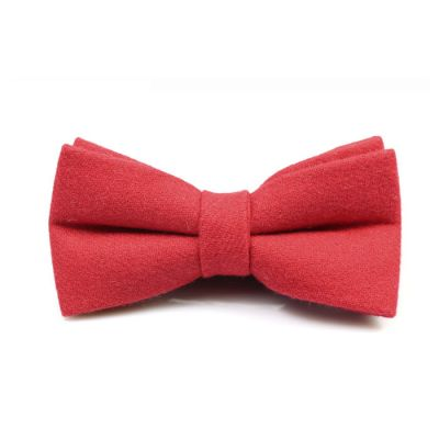 Valentine Red Cotton Solid Butterfly Bow Tie