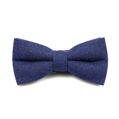 Navy Blue Cotton Polka Dot Butterfly Bow Tie