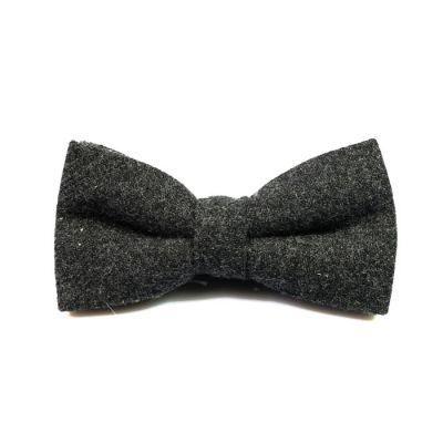 Dark Slate Grey Cotton Solid Butterfly Bow Tie