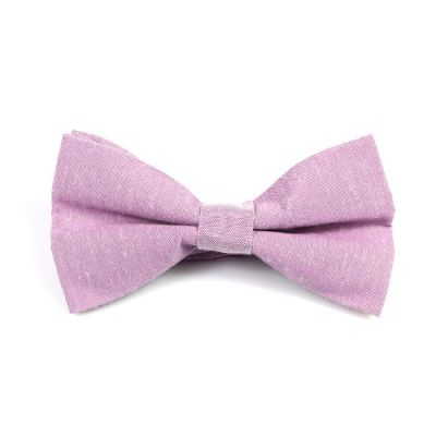 Cadillac Pink Polyester Solid Butterfly Bow Tie
