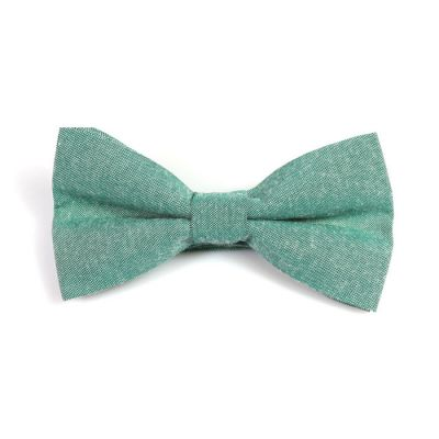 Forest Green Polyester Solid Butterfly Bow Tie