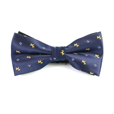Sapphire Blue and Yellow Polyester Novelty Butterfly Bow Tie