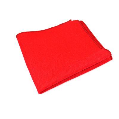 Shocking Orange Cotton Solid Pocket Square