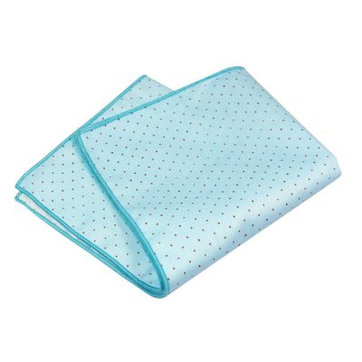 Blue Eyes and Tiffany Blue Cotton Polka Dot Pocket Square