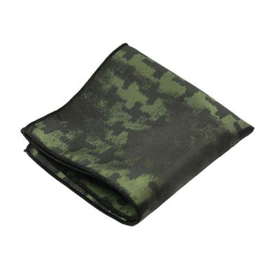 Black and Fern Green Polyester Novelty Pocket Square