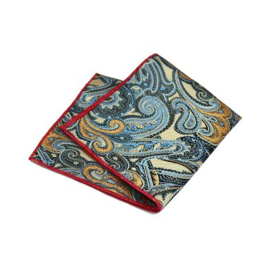 Bullet Shell, Butterfly Blue, BurlyWood, Love Red and Black Polyester Paisley Pocket Square