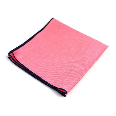 Pig Pink Cotton Solid Pocket Square