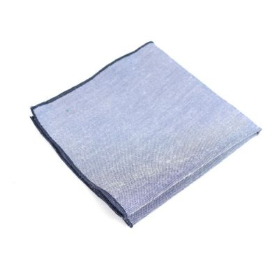 Midnight Blue Cotton Solid Pocket Square