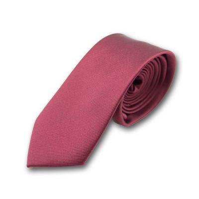 5cm Firebrick Polyester Striped Skinny Tie
