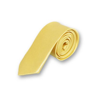 5cm Corn Yellow Polyester Solid Skinny Tie