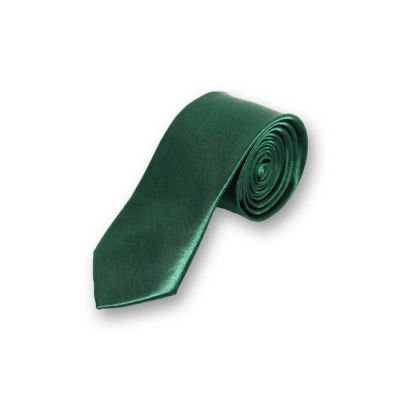 5cm Dark Forest Green Polyester Solid Skinny Tie