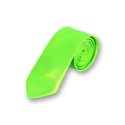 5cm Green Apple Polyester Solid Skinny Tie
