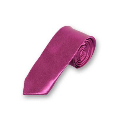 5cm Maroon Polyester Solid Skinny Tie