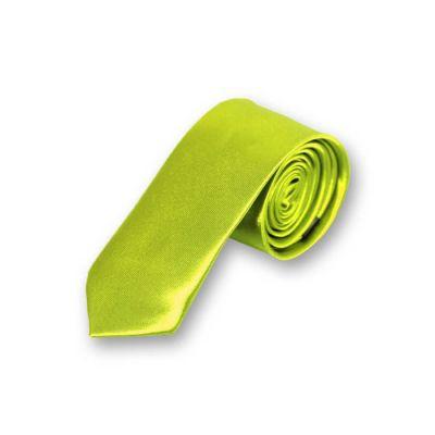 5cm Venom Green Polyester Solid Skinny Tie