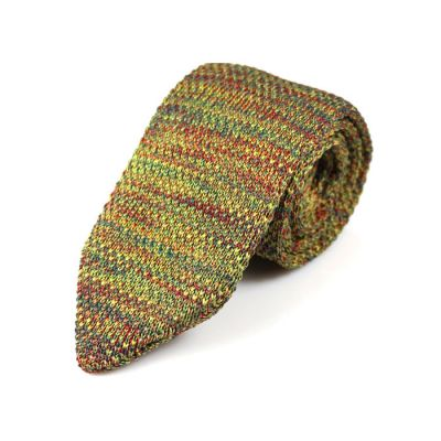 7cm Brass, Brown, Oak Brown, Love Red and Blue Whale Knit Striped Skinny Tie