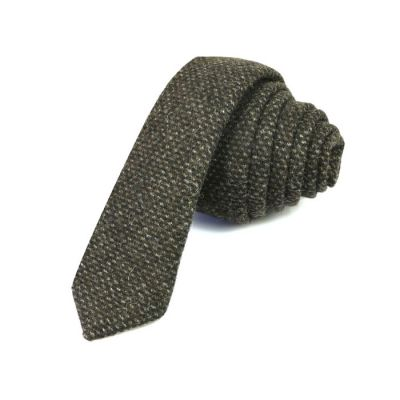 5cm Midnight Cotton Plaid Skinny Tie