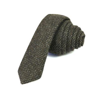 5cm Midnight Cotton Plaid Skinny Tie
