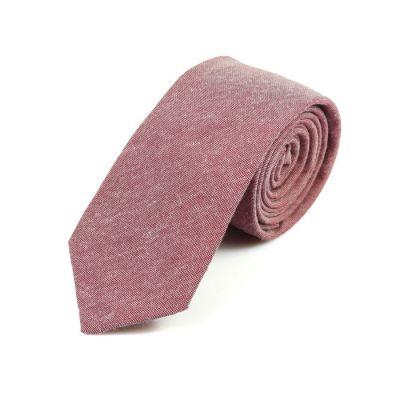 6cm Valentine Red Cotton Solid Skinny Tie