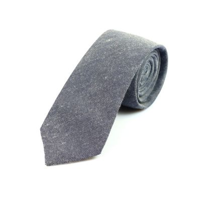 6cm Grape Cotton Solid Skinny Tie