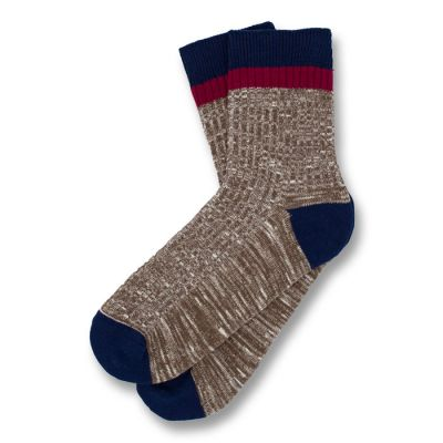 Coffee, Midnight Blue and Burgundy Cotton Solid Socks