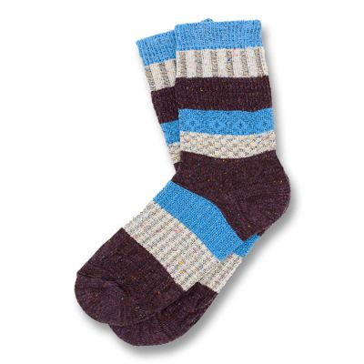 Midnight, Blonde and Dodger Blue Cotton Striped Socks