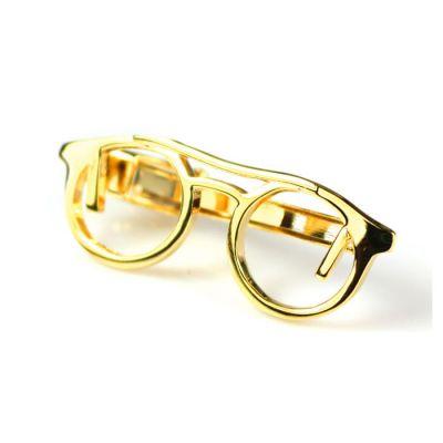 Gold Eyeglasses Tie Bar