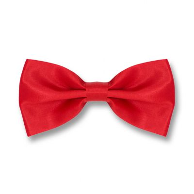 Chilli Pepper Polyester Solid Skinny Bow Tie