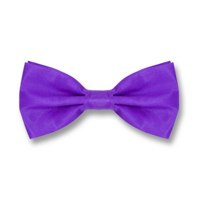 Indigo Polyester Solid Skinny Bow Tie