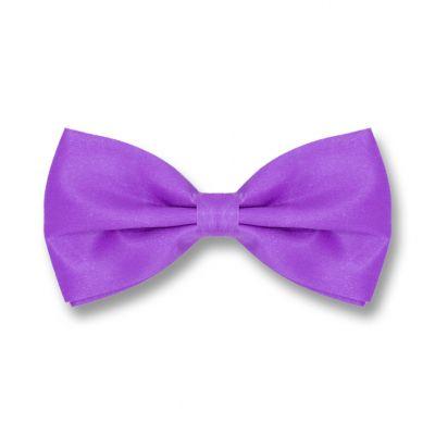 Jasmine Purple Polyester Solid Skinny Bow Tie