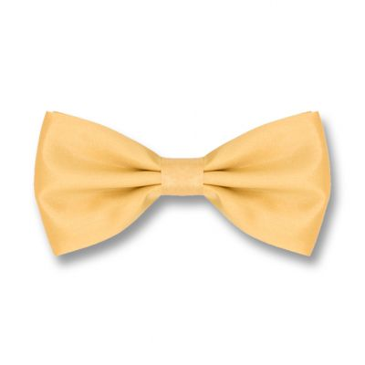 Mustard Polyester Solid Skinny Bow Tie