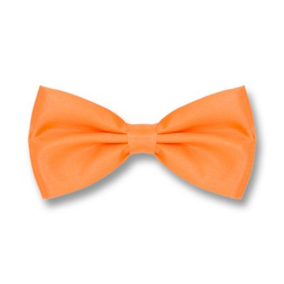 Pumpkin Orange Polyester Solid Skinny Bow Tie