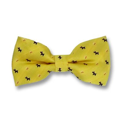 Mustard, Brown and Cranberry Polyester Novelty Butterfly Bow Tie