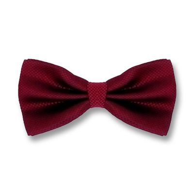 Firebrick Polyester Plaid Butterfly Bow Tie