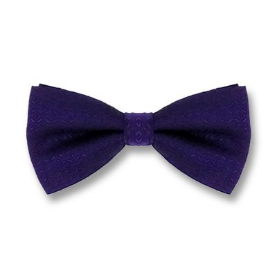 Blue Whale Polyester Plaid Butterfly Bow Tie