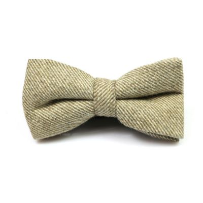 Ginger Brown Cotton Striped Butterfly Bow Tie