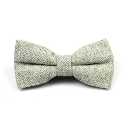 Gray Goose Cotton Striped Butterfly Bow Tie