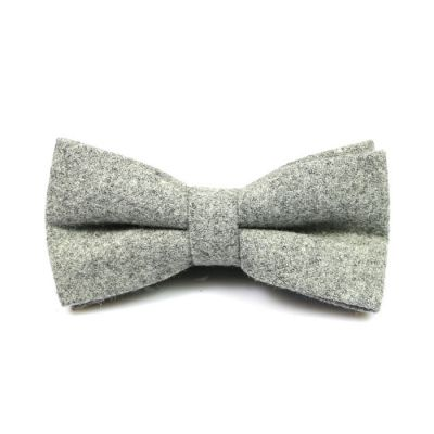 Platinum Cotton Solid Butterfly Bow Tie