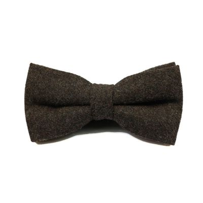 Midnight Cotton Solid Butterfly Bow Tie