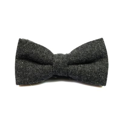 Dark Slate Grey Cotton Solid Butterfly Bow Tie