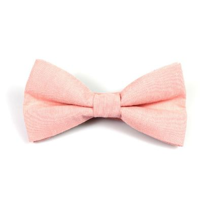 Rose Gold Polyester Solid Butterfly Bow Tie