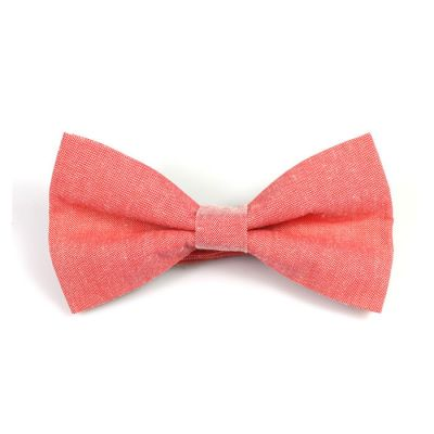 Bean Red Polyester Solid Butterfly Bow Tie